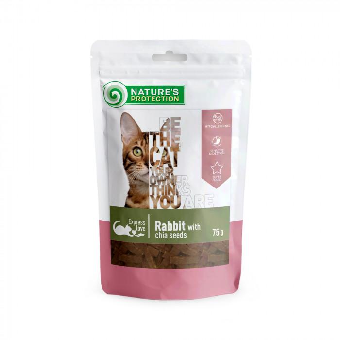 NATURE'S PROTECTION skanėstas katėms triušiena su ispaninio šalavijo sėklomis