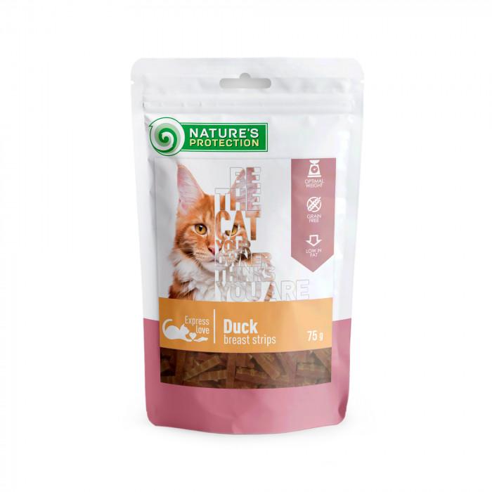 NATURE'S PROTECTION skanėstas katėms antienos krūtinėlės juostelės