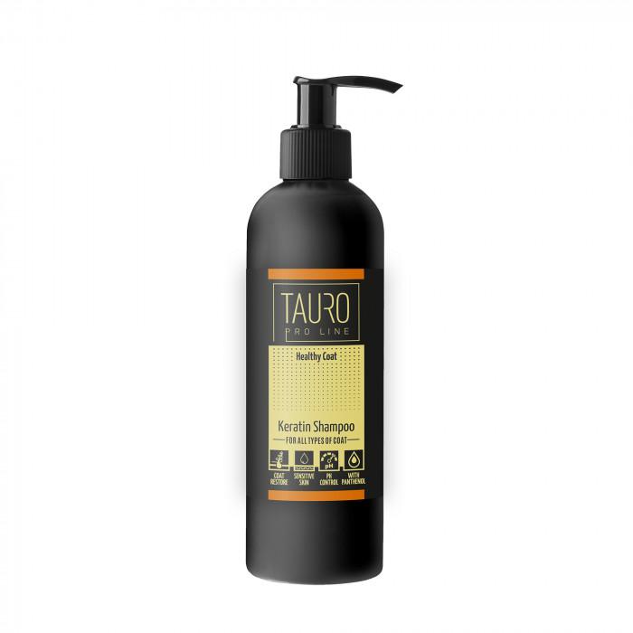 TAURO PRO LINE Healthy Coat KERATIN Šampūnas šunims ir katėms