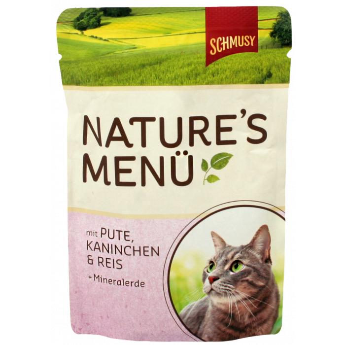 FINNERN MIAMOR Schmusy Natures Menu Konservuotas pašaras katėms su kalakutiena ir triušiena