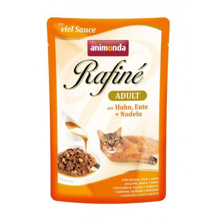 ANIMONDA Rafine adult Konservuotas pašaras katėms su vištiena, antiena ir makaronais