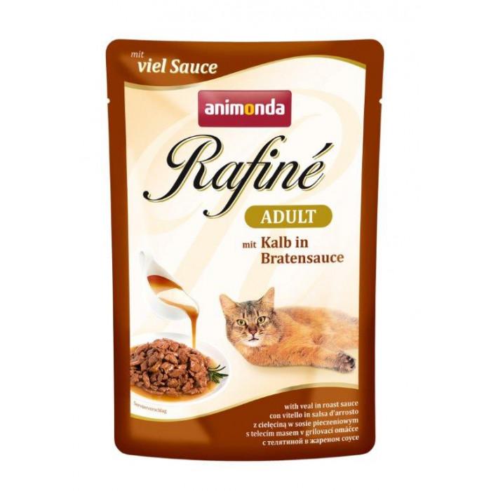 ANIMONDA Rafine adult Konservuotas pašaras katėms veršienos kepsnys padaže