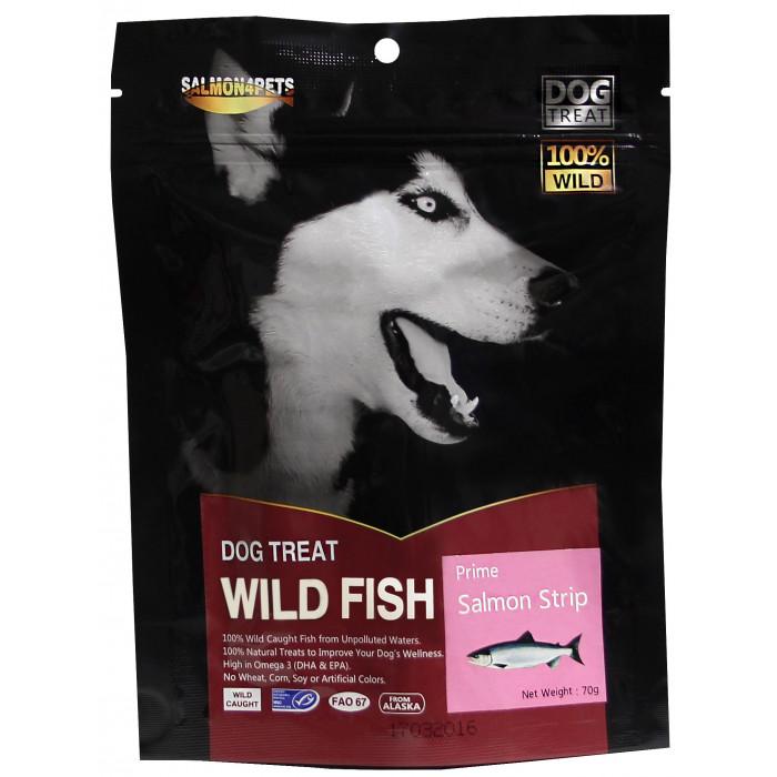 SALMON FOR FISH Skanėstai šunims lašišos juostelės (siauros)