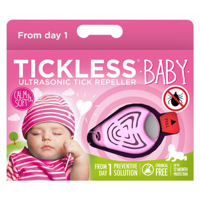 TICKLESS Baby Ultragarsinis pakabukas nuo erkių ir blusų kūdikiams