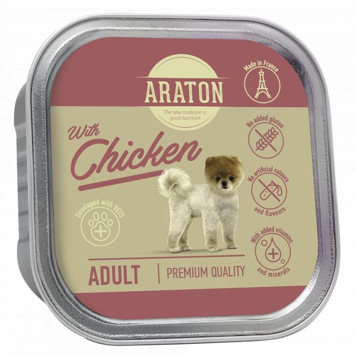 ARATON Adult with chicken, konservuotas pašaras suaugusiems šunims su vištiena