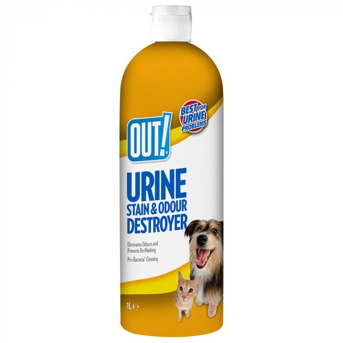 OUT! Dog Urine destroyer priemonė šunų šlapimo kvapui ir dėmėms naikinti,