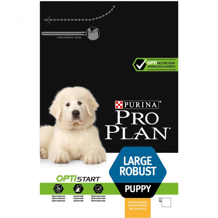 PRO PLAN Dog Large Robust Puppy with OPTISTART, rich in chicken, sausas pašaras šuniukams su vištiena
