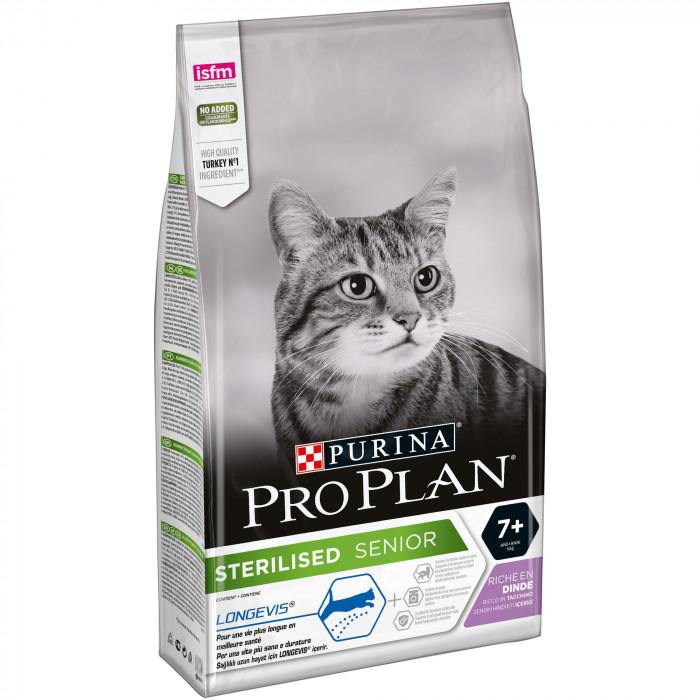 PRO PLAN Cat Sterilised Senior (7+years) with LONGEVIS, rich in turkey, sausas pašaras suaugusioms sterilizuotoms katėms su kalakutiena