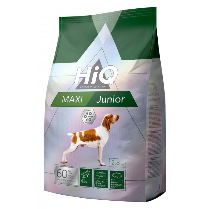 HIQ Maxi Junior Poultry Sausas pašaras šunims