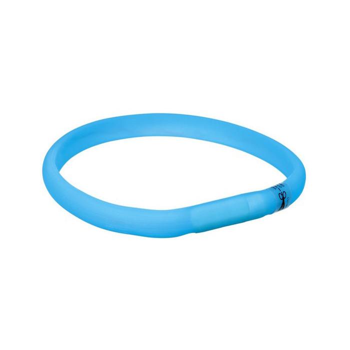 TRIXIE Šviečiantis mėlynas silikoninis antkaklis