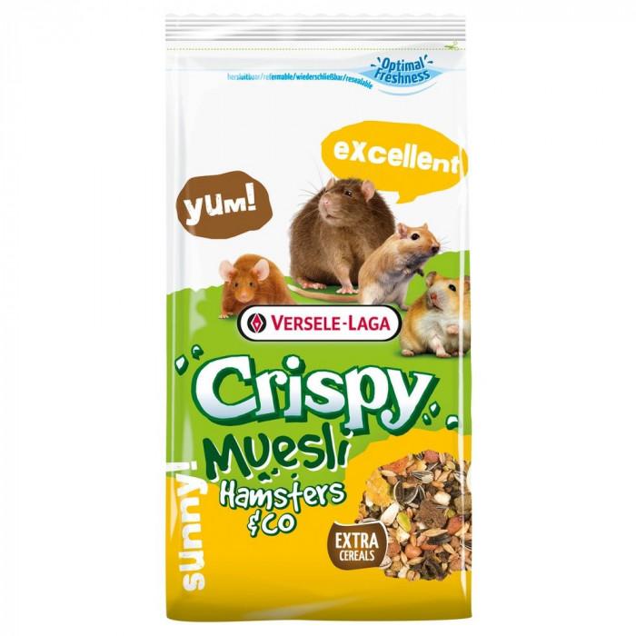 VERSELE LAGA Crispy Hamster  - traškus pašaras  žiurkėnams su vit.E