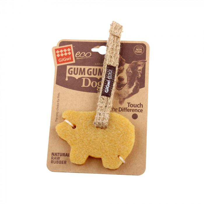 GIGWI Šunų žaislas Gum Gum Dog Kiaulė