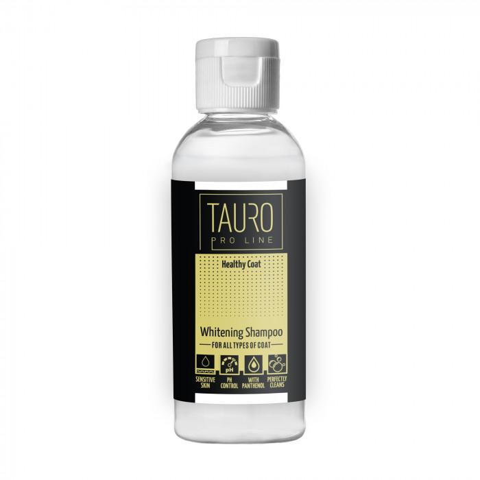 TAURO PRO LINE Healthy Coat Whitening Shampoo , šampūnas šunims ir katėms