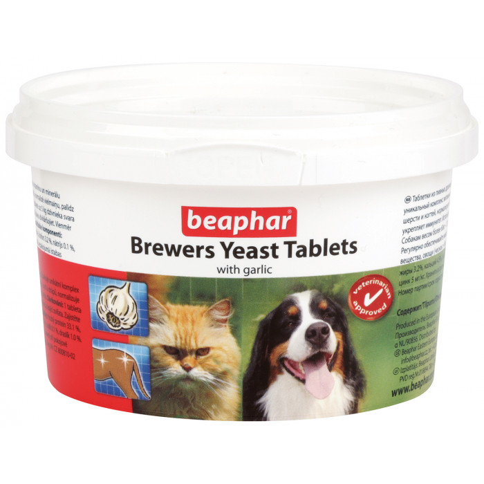 BEAPHAR Brewers Yeast tabletės šunims ir katėms