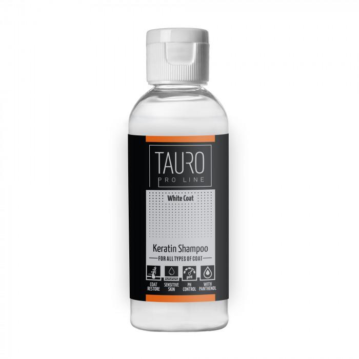 TAURO PRO LINE White coat KERATIN SHAMPOO, šampūnas šunims ir katėms