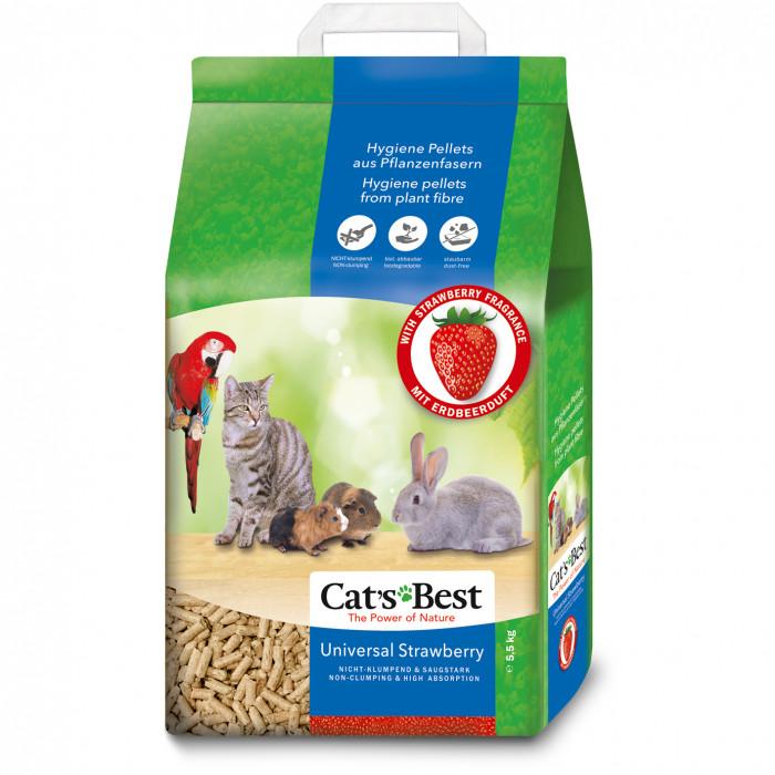 JRS Cats Best Universal Strawberry Natūralus granuliuotas pjuveninis kraikas