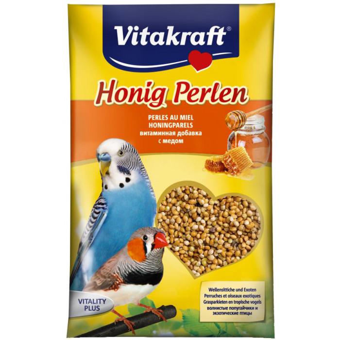VITAKRAFT Honig Perlen Vitaminizuotos sėklos banguotoms papūgėlėms
