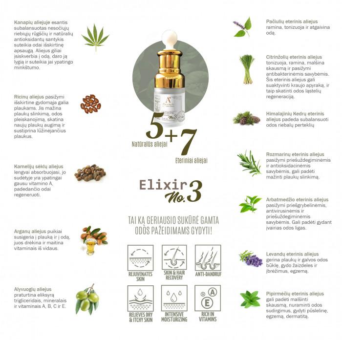 A'SCENTUALS Herbal Care Balancing Elixir Nr. 3 eterinių aliejų mišinys,