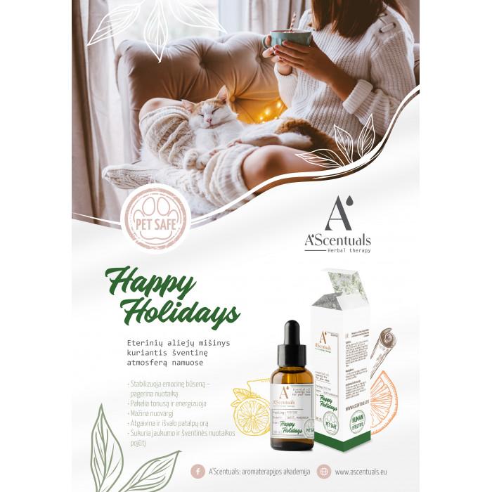A'SCENTUALS Herbal Therapy Happy Holidays namų kvapų eterinių aliejų mišinys,
