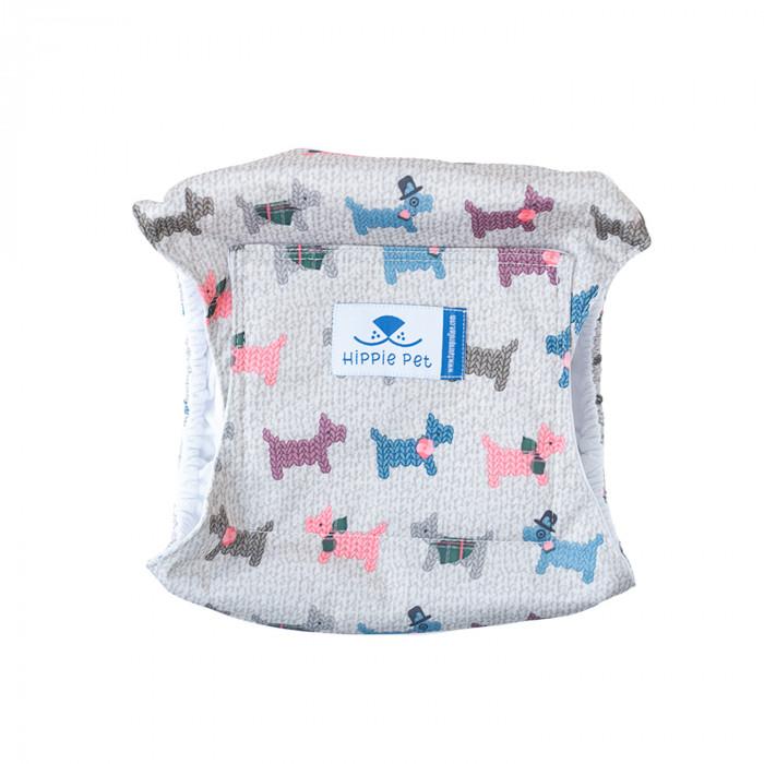 HIPPIE PET Šunų patinų daugkartinio naudojimo sauskelnės