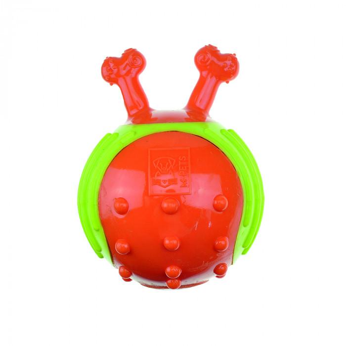 M-PETS Šunų guminis kamuoliukas su kaulo formos rankenomis