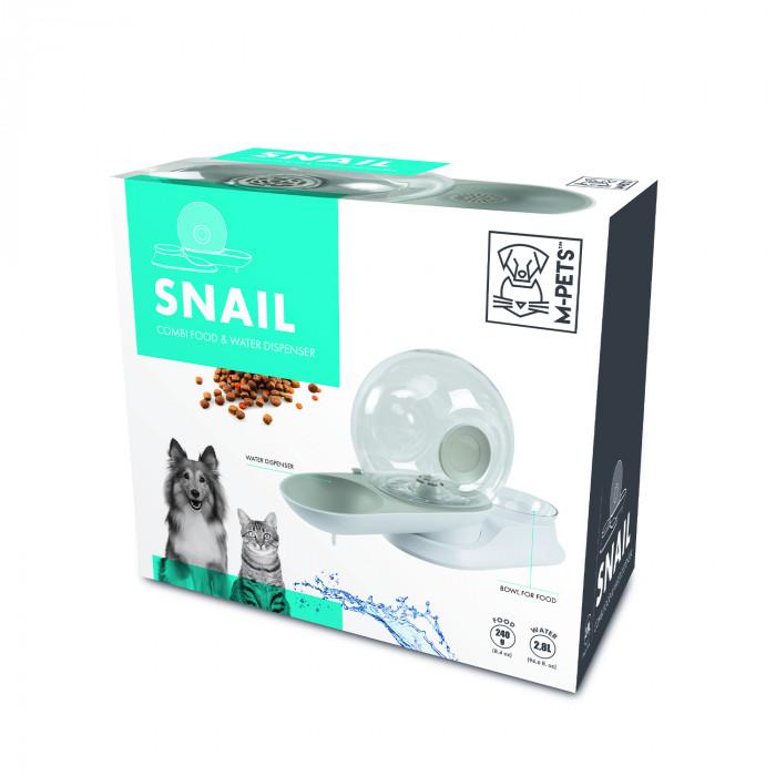M-PETS Gyvūnų gertuvė ir dubenėlis, SNAIL COMBI