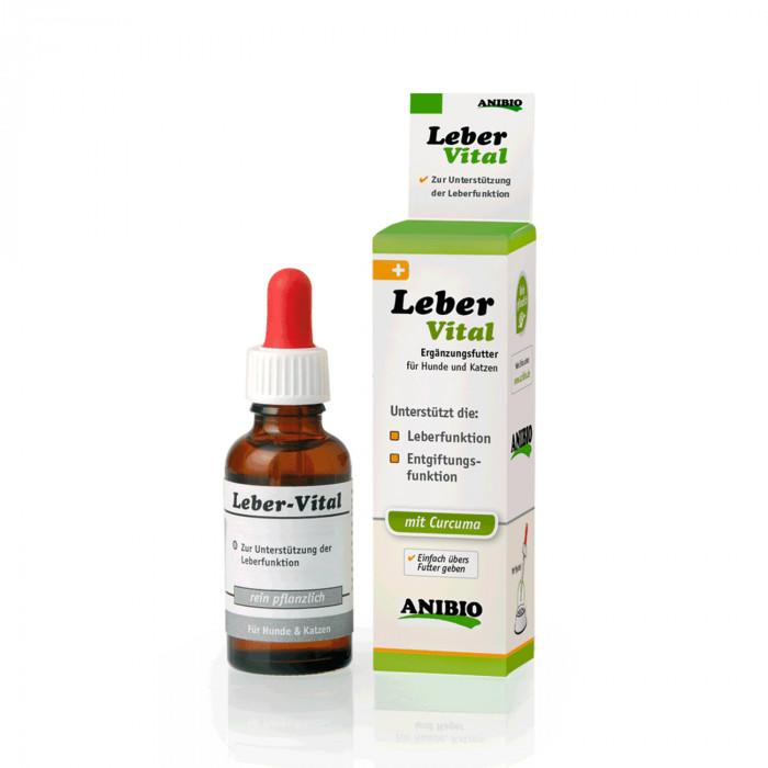 ANIBIO Leber-Vital šunų ir kačių pašaro papildas, kepenų funkcijų palaikymui
