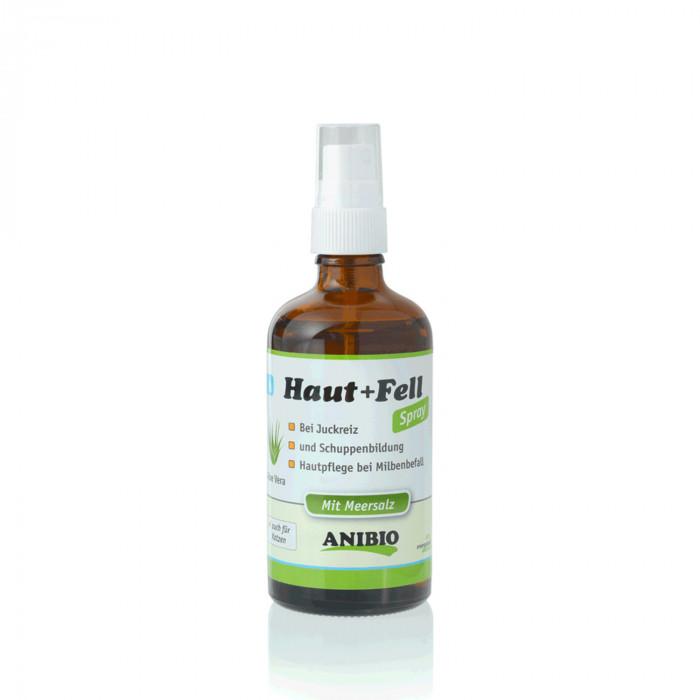 ANIBIO Haut + Fell Spray šunų ir kačių priežiūros priemonė - purškiklis, odos ir kailio priežiūrai