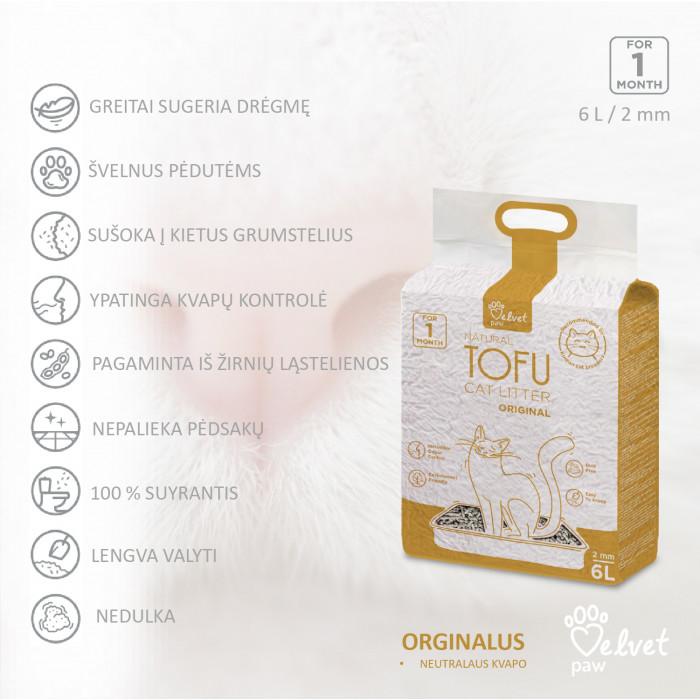VELVET PAW Tofu Kraikas katėms, 2 mm granulės