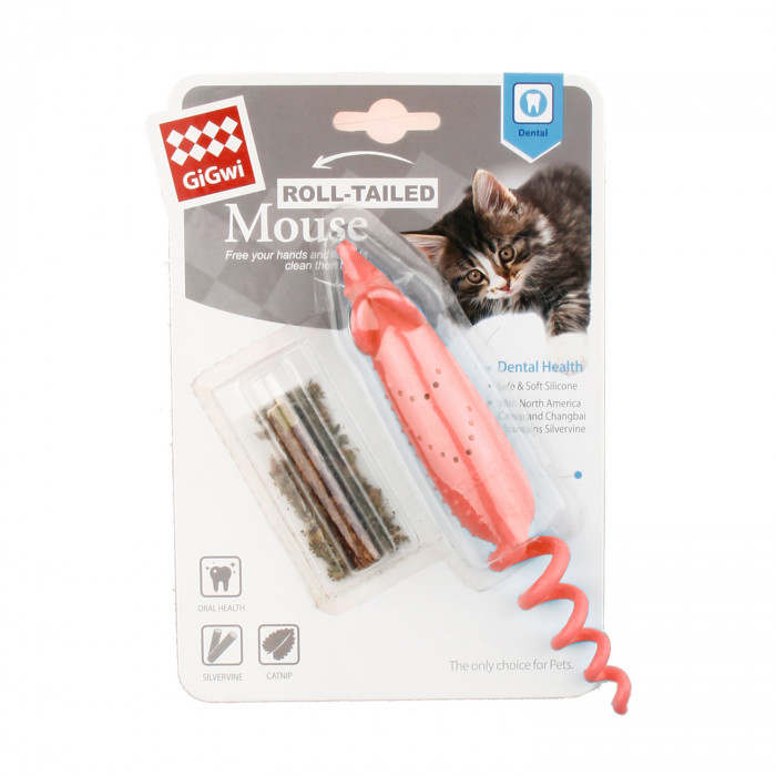 GIGWI Kačių žaislas Pelė su katžole