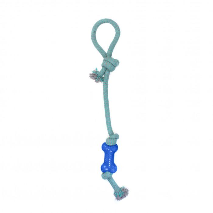 MISOKO&CO Šunų žaislas ilga virvė su kaulu,
