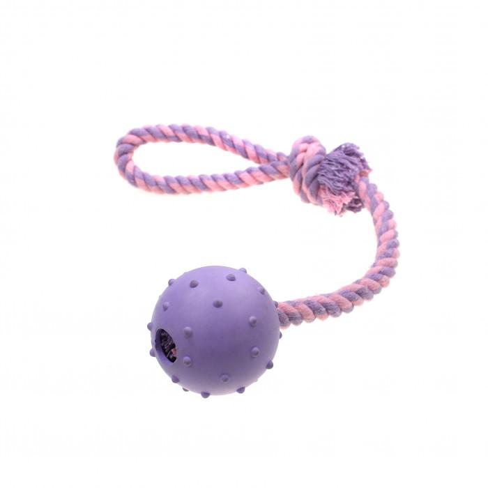 MISOKO&CO Šunų žaislas kamuoliukas ir virvė,