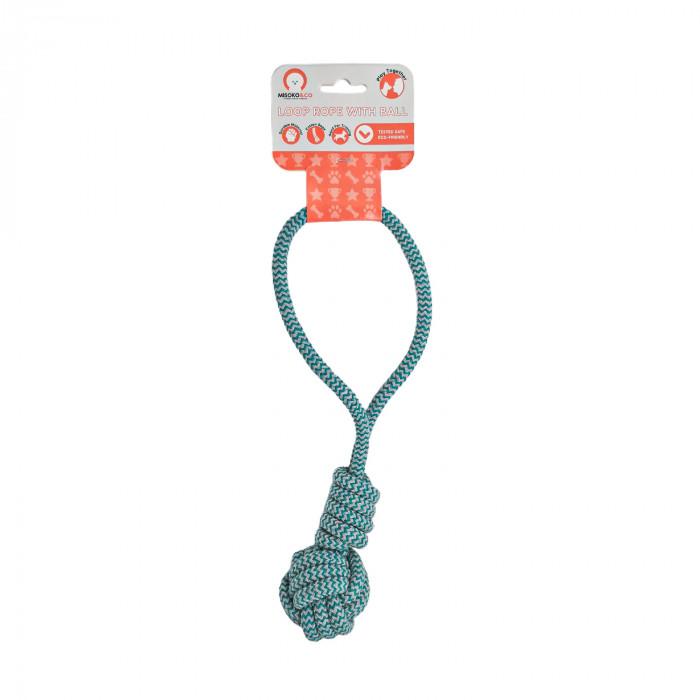 MISOKO&CO Šunų žaislas kamuoliukas su rankena,