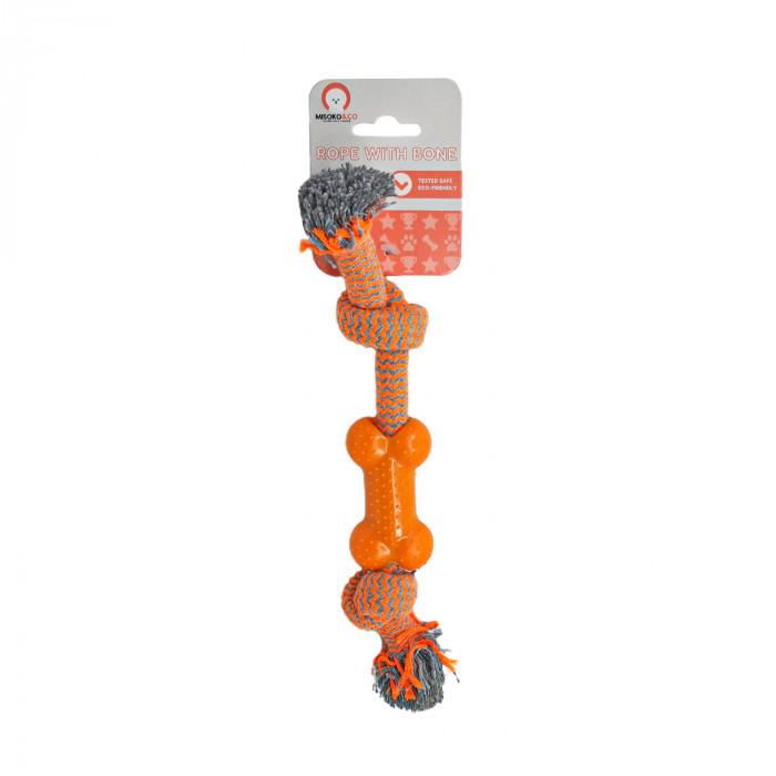 MISOKO&CO Šunų žaislas virvė su kaulu,