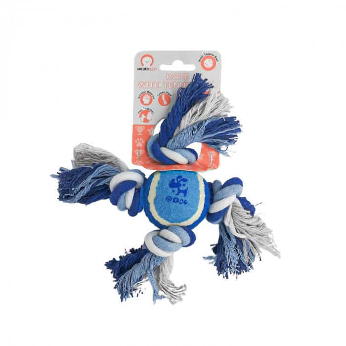 MISOKO&CO Šunų žaislas kamuoliukas su mazgais,