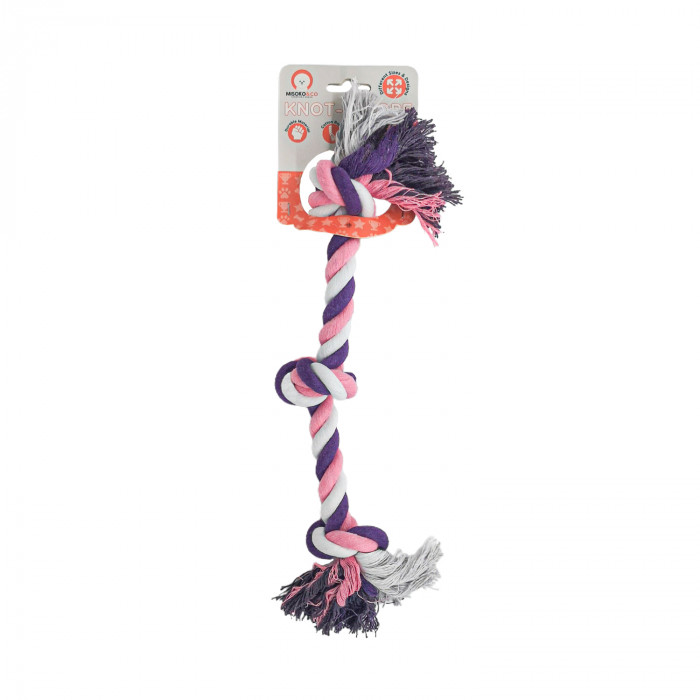 MISOKO&CO Šunų žaislas ilga virvė su mazgu,