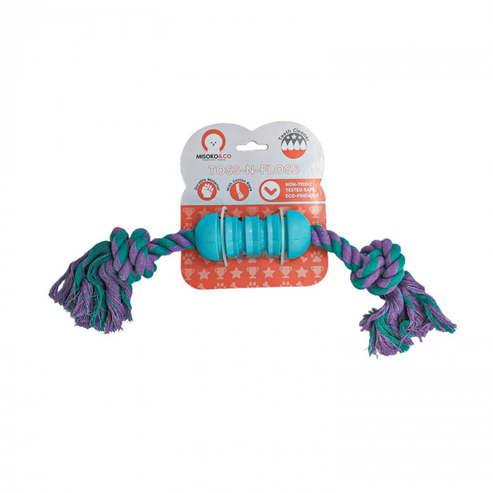 MISOKO&CO Šunų žaislas guminis su virve,