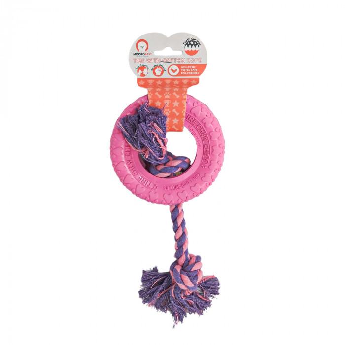 MISOKO&CO Šunų žaislas žiedas su virve,