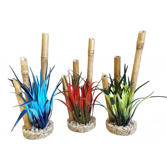 SYDEKO Akvariumų dekoracija Bamboo Forest Plants