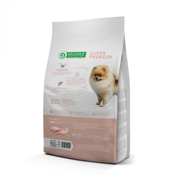NATURE'S PROTECTION Mini Small breeds Junior 2-12 months Poultry Sausas pašaras šunims