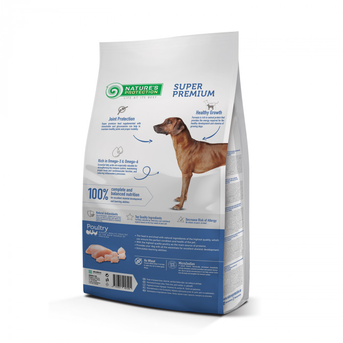 NATURE'S PROTECTION Maxi Large breeds Junior 2-18 months Poultry Sausas pašaras šunims