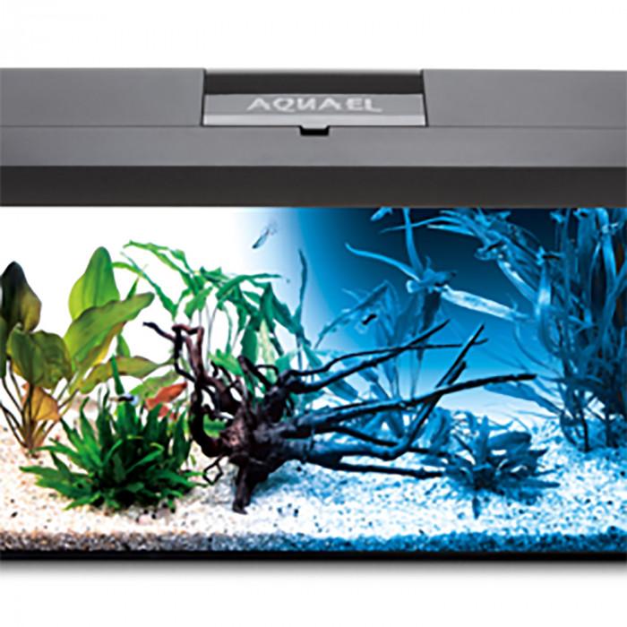 AQUAEL Stačiakampis akvariumas su įranga LEDDY SET DAY & NIGHT