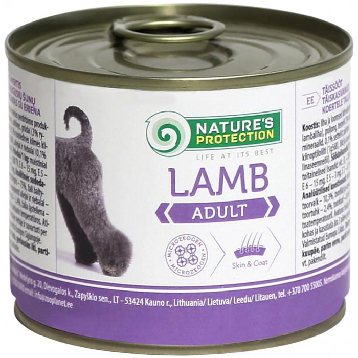 NATURE'S PROTECTION Dog Adult Lamb Konservuotas pašaras šunims