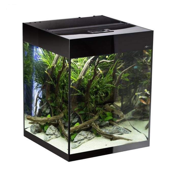 AQUAEL Stačiakampis akvariumas GlOOSY SET CUBE
