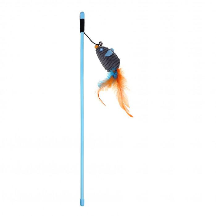 HIPPIE PET Kačių žaislas meškerė su pele,