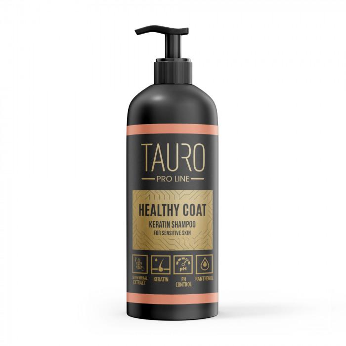 TAURO PRO LINE Healthy Coat Keratin Shampoo, šampūnas šunims ir katėms
