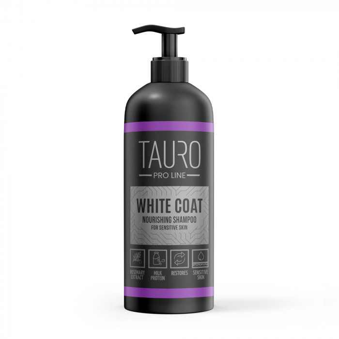 TAURO PRO LINE White Coat Nourishing Shampoo, šampūnas šunims ir katėms