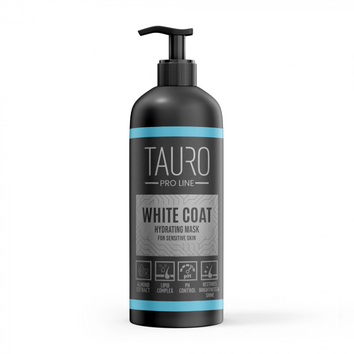 TAURO PRO LINE White Coat hydrating mask, kaukė šunims ir katėms