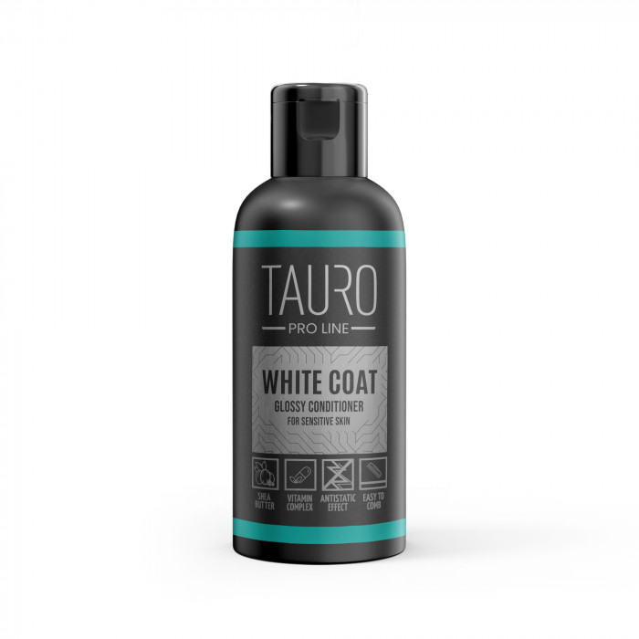 TAURO PRO LINE White Coat glossy conditioner, balzamas šunims ir katėms
