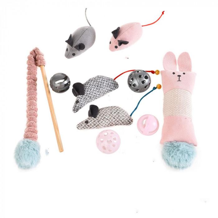 HIPPIE PET Kačiukų žaislų rinkinys,